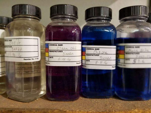 colorful blend bottles