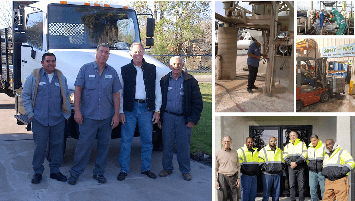 Collage made of up pictures of the Sierra Chemical's workers